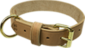 Tan Leather Collar, 20""