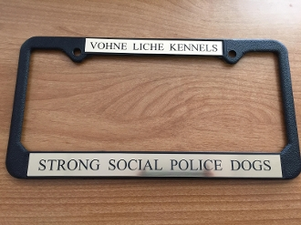 License Plate Frame Vohne Liche Kennels